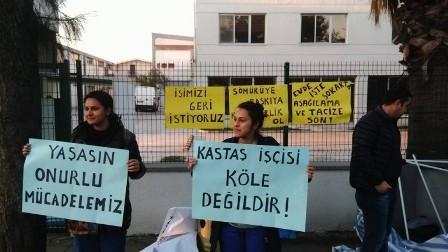 İzmirde iki kadın işçi direnişe başladı