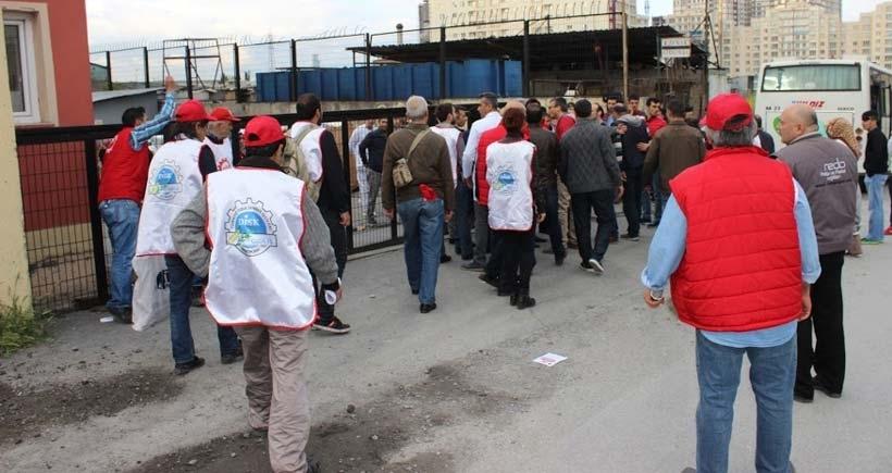 Saadet Gıdada önünde işçilere saldırı