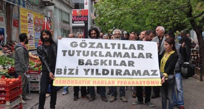 hozatta tutuklamalara karsi protesto