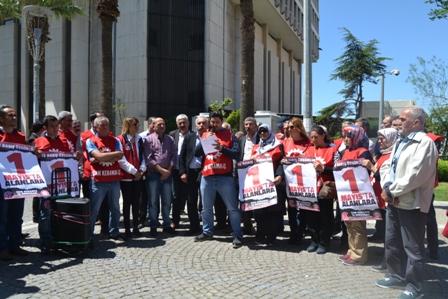 İzmir Dost cam işçileri basın açıklaması