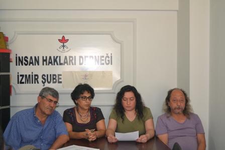 İHD İzmir tutuklu gazeteciler için basın toplantısı