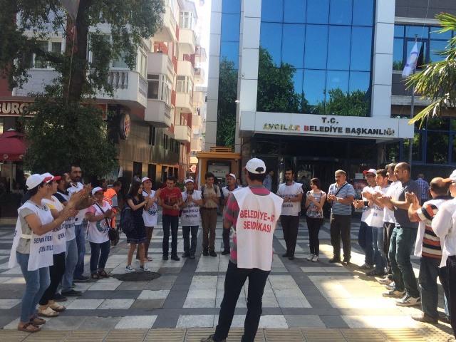 belediye iscilerinden handana protesto1