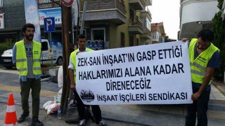 Ankarada inşaat işçileri eylem yaptı