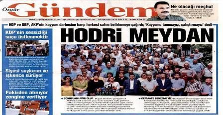 Özgür Gündem gazetesine kapatma kararı