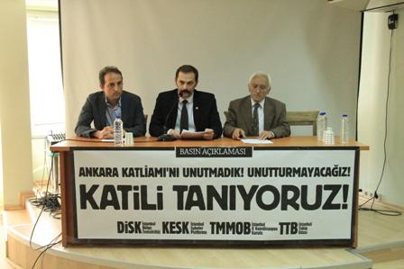 Ankara Katliamı yıldönümü ile ilgili basın toplantısı