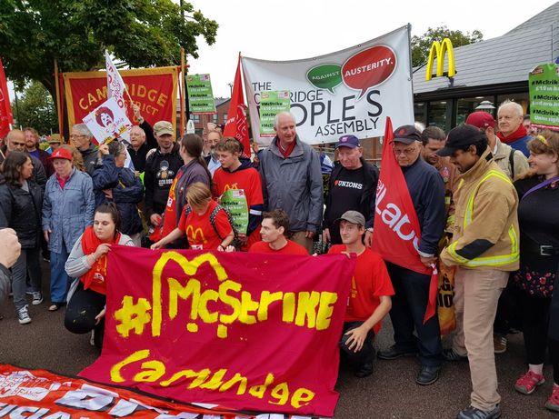mcdonalds ingiltere grev