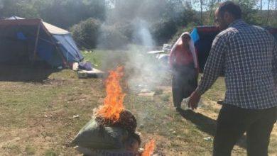 zonguldaktaki halk fındıklarını yaktı